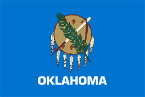 The Oklahoma state flag