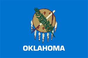 The Oklahoma state flag