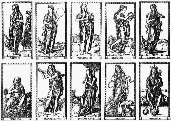 The nine Muses and their emblems in art.