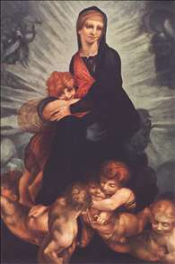 Madonna and Child with Putti (c. 1517). Rosso Fiorentino, The Hermitage, St. Petersburg.