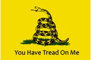 Rightwing version of the Gasden snake flag