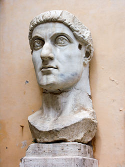 The sculpted head of Constantine
