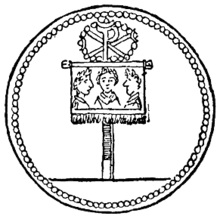The labarum, Constantines Roman standard feauring the chi rho symbol