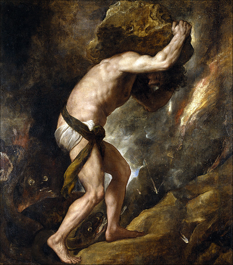 Sisyphys (1548-49) by Titian, Prado Museum, Madrid, Spain.
