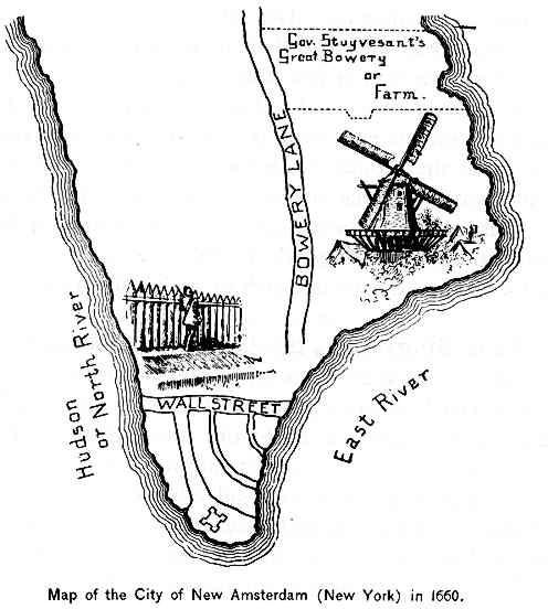 New Amsterdam in 1660