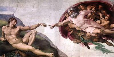 Michelangelos fresco The Creation of Adam