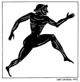 A stripped Greek runner