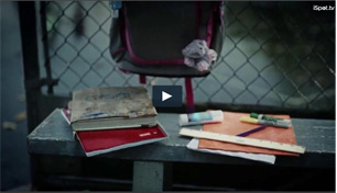 Staples ads showing school supplies left in the rain
