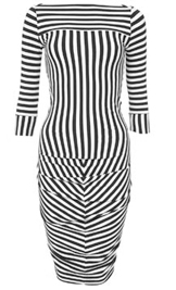 A striped dress