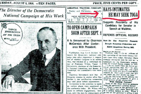 1916 headline using the word