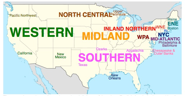 US regional dialect regions